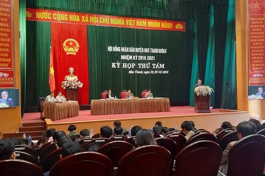 Khai mạc kỳ họp thứ 8, HĐND huyện Như Thanh khóa V