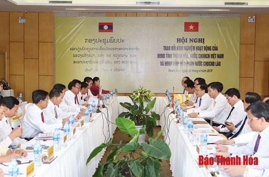 Trao đổi kinh nghiệm hoạt động HĐND hai tỉnh Thanh Hóa - Hủa Phăn