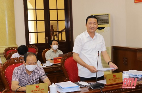 Ban Thường vụ Tỉnh ủy Thanh Hóa thảo luận, quyết định nhiều nội dung cơ chế, chính sách liên quan đến sự phát triển của tỉnh